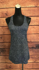 LULULEMON Cool Racerback Tank Top Luminesce Splatter White Black Size 8 NWT