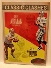 2016 PANINI CLASSICS FOOTBALL CLASSIC CLASHES COOPER AIKMAN YOUNG  WM1