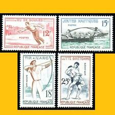 4 FRANCE 1958 - SERIE JEUX TRADITIONNELS - N° 1161 A 1164 - NEUFS **
