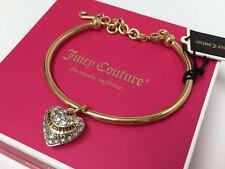 Juicy Couture Goldtone Pave' Heart Slider Bangle Bracelet Wjw397 710