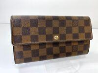 Louis Vuitton Portefeuille International Damier Long Wallet France J201522861
