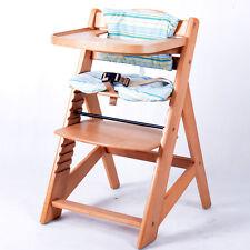 Treppenhochstuhl Kinderhochstuhl Babystuhl Babyhochstuhl Kinderstuhl NATUR