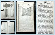 *1781* Gentleman's Mag. BENEDICT ARNOLD John Adams SOUTH CAROLINA BATTLE Slavery