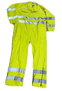 Bulwark Flame Resistant Hi-Vis Uniform Coveralls 52-Rg Excellant Condition