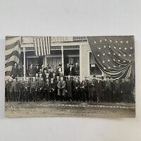 Antique RPPC Real Photograph Postcard GAR Civil War Veterans Ludlow, VT 1911