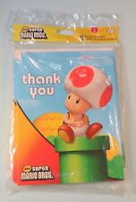 2011 Nintendo New Super Mario Bros Thank You Cards 8 New still Sealed Toad