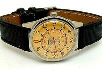 vintage hmt pilot hand winding men's steel made India wrist watch