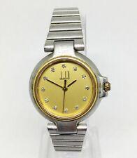 Women's DUNHILL MILLENNIUM 12 Point Diamond Quartz Watch. 25mm Gold Dial.