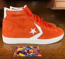 Converse Pro Leather 76 Mid Suede Mens Skate Shoe Orange/White 155338C Size 9.5