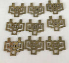 Vintage Asian Chinese Drawer Pulls Brass Gold Tone 3  X 2  Lot 9