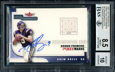 Drew Brees Autographed 2001 Fleer Jersey RC Auto 10 Card 8.5 Beckett 11077949