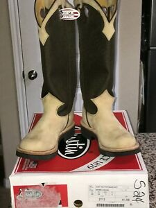 RARE*SALE*NEW Justin Dune Traction Snake Proof Buckaroo Cowboy Western Boots