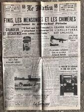 N21 La Une Du Journal Le Matin 14 Aout 1940