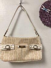 Etienne Aigner womens handbag beige tan satchel shoulder bag H37