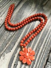 Antique old natural red coral necklace others turquoise gold jewelrys sale