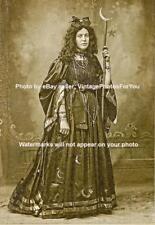Vintage/Old/antique 1800-1900 Weird/Strange Gothic Witch Costume Burlesque Photo