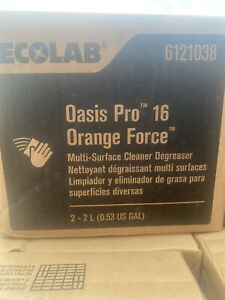 Ecolab 6121038 Oasis Pro 16 Orange Force Multi-surface Cleaner Degreaser NEW!