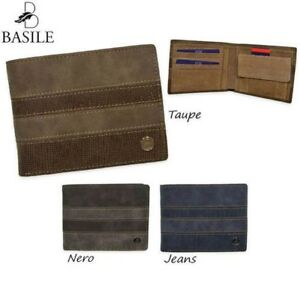 Men's Wallet Genuine Leather Basile Coin Purse & Credit Cards