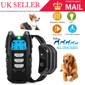 Electric Pet Dog Training Collar Shock Anti-Bark Electronic Remote Rechargeable.