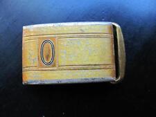 Vintage Signed HICKOK Master Plate Zinc Alloy Monogram Initial O Belt Buckle