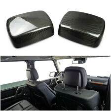 Mercedes G Wagon G63 G500 G63 Rear Seat Headrest Carbon Covers Set