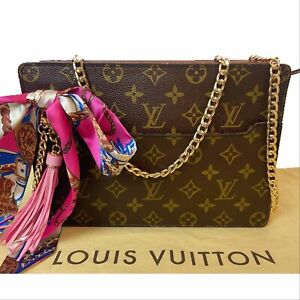 Certified Auth. Louis Vuitton Monogram Homme Clutch/Cross Body Bag~ US SELLER