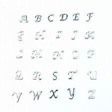 130pcs Silver A-Z Alphabet Letter Floating Charms For DIY Glass Locket Pendant