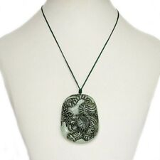 Old Jade Happy Lucky Chinese Zodiac Tiger Amulet Pendant