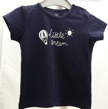 Grain de Blé tee-shirt manche courte bleu marine motif soleil garçon 3 mois