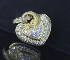 Judith Ripka 18ct Oro Amarillo Redondo Corazón De Diamante Colgante collar