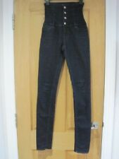 Women's MISS SIXTY indigo ultra high waisted skinny jeans size UK 6 RRP £129 *
