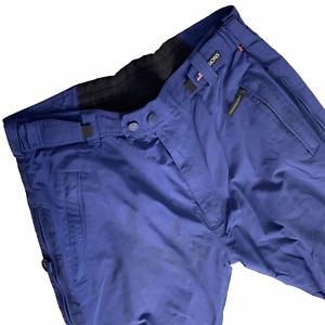 Sessions Ridge Snowboard Ski Snow Pants Mens L Large Blue Waterproof