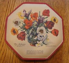 Vintage Octagon Shaped Candy Box Mrs. Sothern's Beautiful Tulip Bouquet Rare