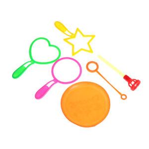 6pcs Blowing Bubble Soap Tools Bubble Sticks Set Outdoor Toy Kids T^lk