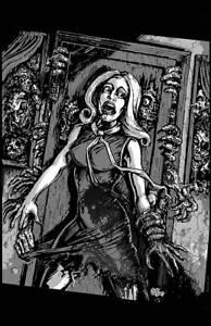 NIGHT of the LIVING DEAD Art Print poster Zombies horror art by Scott Jackson