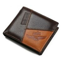 Men's Leather Wallet Bifold Money Clip ID Credit Card Holder Purse Coin Pocket