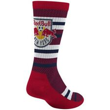 New York Red Bulls MLS Adidas Men's Stripe Polka Dot Pattern Red Crew Socks