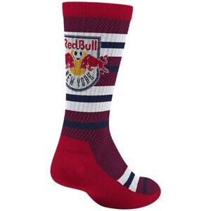 New York Red Bulls MLS Adidas Men's Stripe Polka Dot Pattern Red Crew Socks