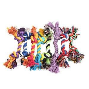1PC Dog 16cm Chew Cotton Braided Bone Rope Tug Toy Grinding Teeth Pet Supplies