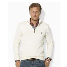 Ralph Lauren Polo Mens off White Cotton Half Zip Sweater Size XXL 2xl