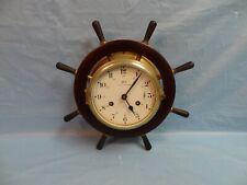 Schatz Royal Marine Maritime Nautical Wheel Decorative Wall Clock
