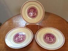 "Wedgwood THREE Cipriani mulberry creamware 8 3/4"" plates ca. 1890's"