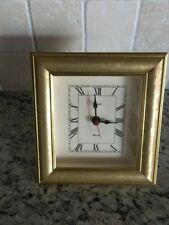 Vintage Empire Art Products Desk/Mantel/Table Quartz Gold Tone Clock