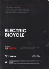 Electric Bicycle Owner's Manual Part #576736HD-562387TW Electra/Bosch/Trek