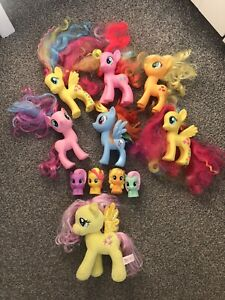 My little pony large bundle incl applejack, rainbow dash , pinky pie