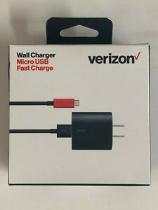 Verizon 24W Micro USB Wall Charger Fast Charge For Samsung, LG, HTC