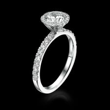 CHRISTMAS 1 3/4 CT D SI ENHANCED DIAMOND ENGAGEMENT RING ROUND 18K WHITE GOLD