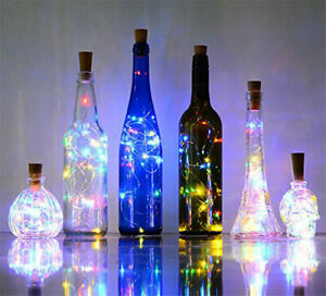 Bottle Fairy String Lights Battery Cork Shaped Christmas Wedding Party 10 LED 1m