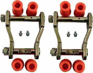 Rear Leaf Spring Shackles & Bushes For Toyota Hilux MK6/MK7 2.5TD/3.0TD 7/05>ON