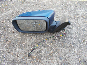 BMW 3 SERIES E46 COMPACT HATCHBACK 98-06 PASSENGER BLUE AND ELECTRIC DOOR MIRROR